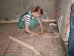 Монтаж электрического теплого пола в Аксае. электрический теплый пол
